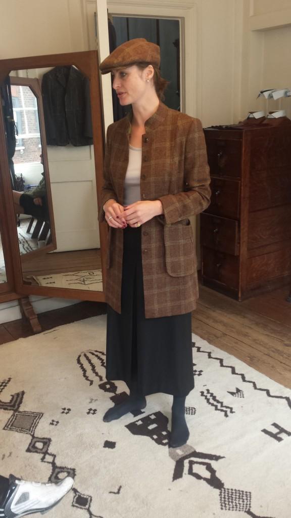 Fie , long coat, cap