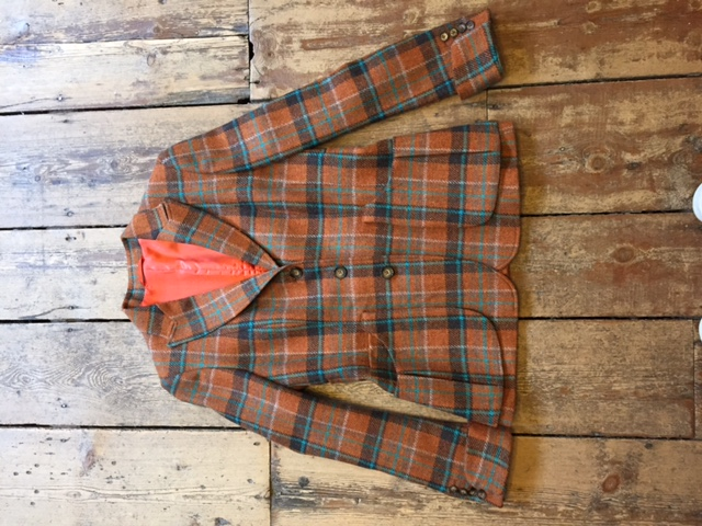 checked jacket front